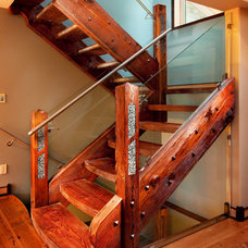Traditional Staircase by Hamilton Standard Construction