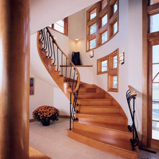 Contemporary Staircase by Barenz Builders