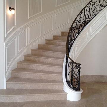 Radius Panels and Stair
