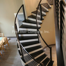 Contemporary Staircase by Pike Stair Company, Inc.