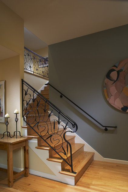 contemporary staircase by Harrell Remodeling