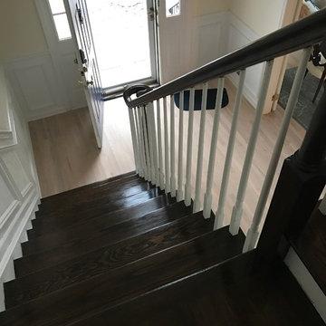 Railings, stairs, and floors