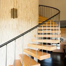 Contemporary Staircase by Allison Jaffe Interior Design LLC