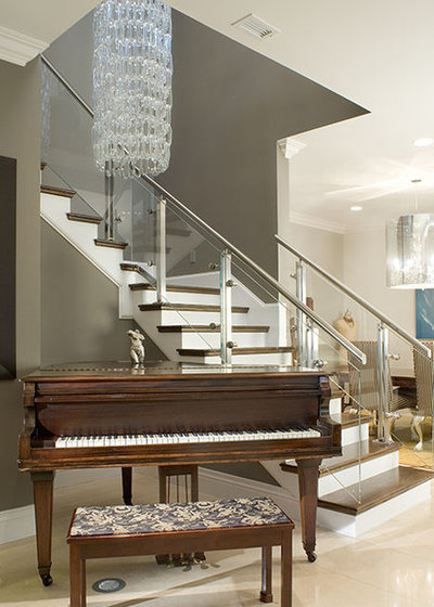 Contemporary Staircase by Ramos Design Build Corporation