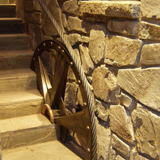 Traditional Staircase by Nigel Walker and Associates Inc
