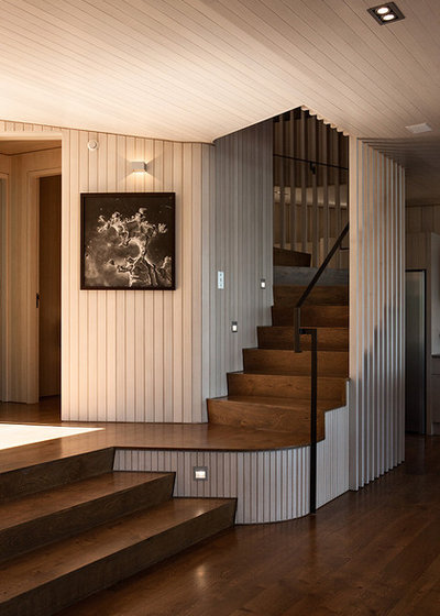 Contemporary Staircase by Studio Pacific Architecture
