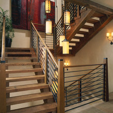 Traditional Staircase by Poss Architecture + Planning + Interior Design