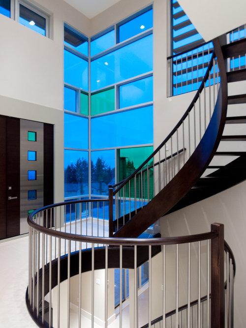 Fotos De Escaleras Dise Os De Escaleras Curvas Azules