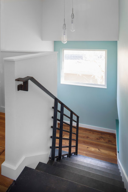 Contemporary Staircase by Jennifer Ott Design