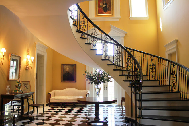 Traditional Staircase by Rowland Design