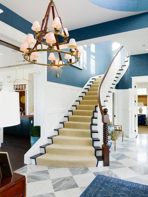 maritime treppen mit teppich setzstufen ideen f r. Black Bedroom Furniture Sets. Home Design Ideas