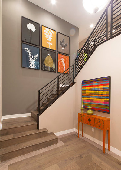 Contemporary Staircase by Woodside Homes Southern California