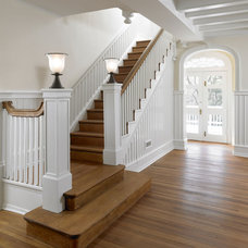 Traditional Staircase by Krieger + Associates Architects Inc