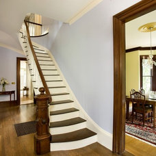 Traditional Staircase by Landmark Services Inc
