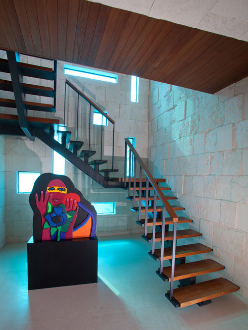 Good Inspiration For A Contemporary Wooden U Shaped Open Staircase Remodel In  Miami