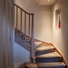 Contemporary Staircase by Brazil Associates