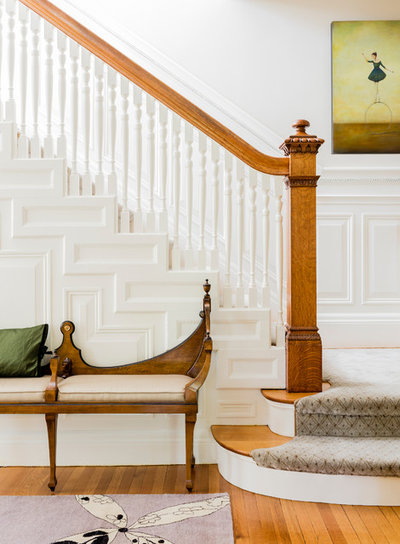 Traditional Staircase by Jules Place  Art Gallery  and Consulting Services