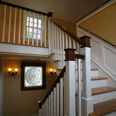 Farmhouse Staircase by ARCHIA HOMES