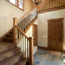 Traditional Staircase by Michelle Tumlin Design