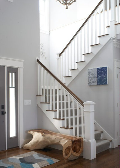 Beach Style Staircase by Rachel Reider Interiors