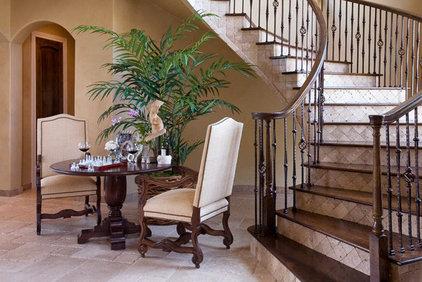 Mediterranean Staircase by Richens Designs, Inc.