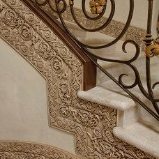 Mediterranean Staircase by Patrick Berrios Designs