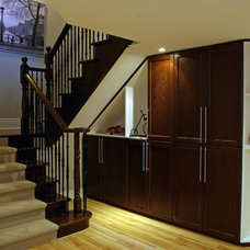 Traditional Basement by Idevoks Design