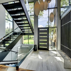 Contemporary Staircase Rift cut oak stairwell