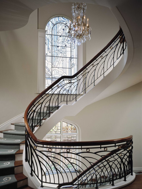 Creative stairs duplex house - Curved Staircase Houzz