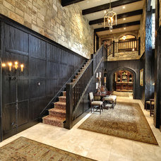 Traditional Staircase by Gunson Custom Mountain Architects