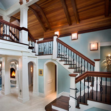 Traditional Staircase by Fiorentino Group Architects