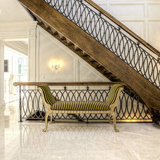 Traditional Staircase by Sanaz Designs Inc