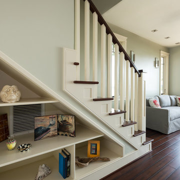 Riverside Waterfont Home: Under Stairs Storage and Living Area