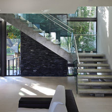 Contemporary Staircase by Charlotte Dunagan Design Group