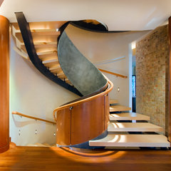 modern staircase by Robert J Erdmann Design, LLC
