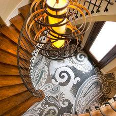 Transitional Staircase by Robeson Design