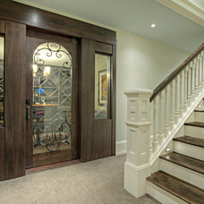 Transitional Staircase by Rockwood Custom Homes