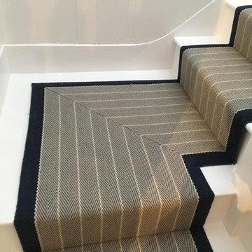 Roger Oates Dart Midnight stair runner carpet in Guildford Surrey