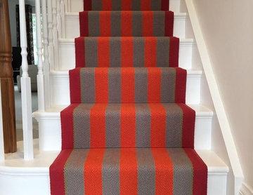 Roger Oates Fitzroy Bright stair runner carpet in Ascot Berkshire