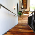 Finished Houses Interiors Rustic Staircase New York