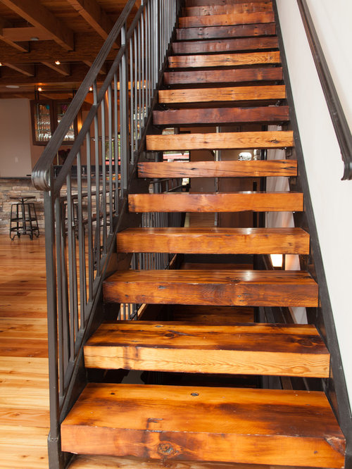 Rustic St Louis Staircase Design Ideas Remodels & s