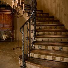 Mediterranean Staircase by Beringer Fine Homes