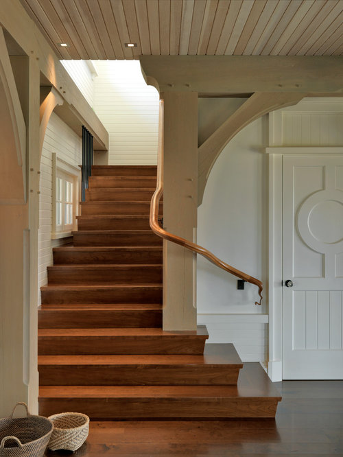 Lighting Basement Washroom Stairs: Wrap Around Stairs Home Design Ideas, Pictures, Remodel