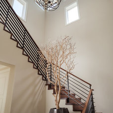 Transitional Staircase by Courchene Development Corp