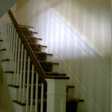 Traditional Staircase by RSG WoodWorks