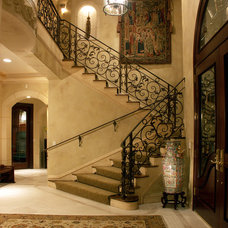 Mediterranean Staircase by SUZANNE MYERS - ELITE INTERIOR DESIGN