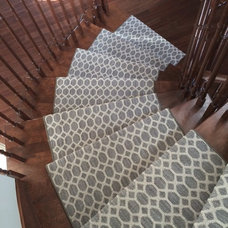 Contemporary Staircase by Tapis Galerie Normandy