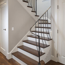 Modern Staircase by lisa gutow design
