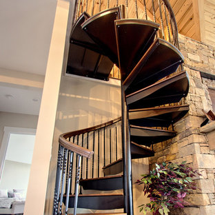 Rustic Forged Iron Spiral Staircase