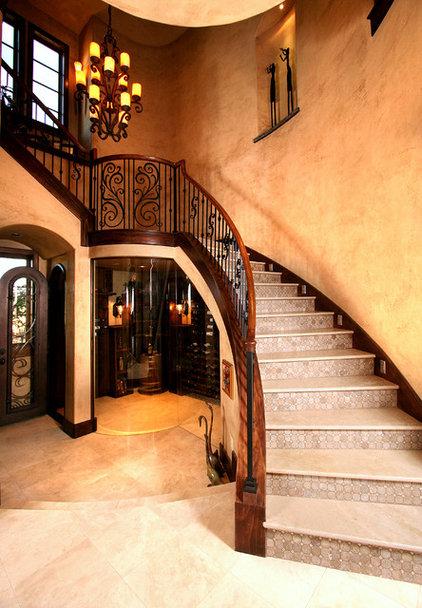Mediterranean Staircase by Zbranek & Holt Custom Homes